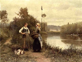[A Conversation] by Daniel Ridgway Knight